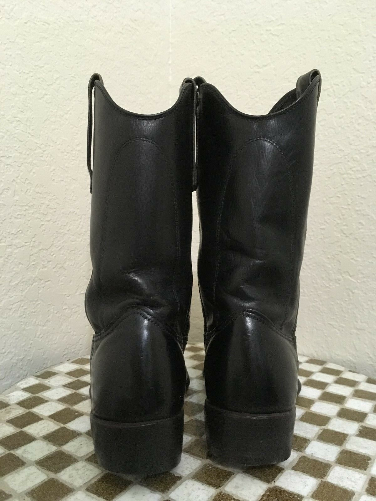 Vintage rouge WING noir LEATHER MILITARY MOTORCYCLE bottes bottes bottes 7D 8744e1