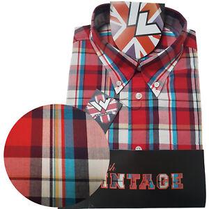 Warrior-UK-England-Button-Down-Shirt-MCCALLUM-Hemd-Slim-Fit-Skinhead-Mod