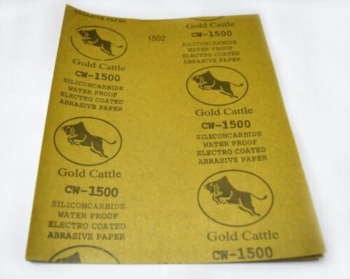 """4pcs 9/"""" x 11/"""" 2500 Grit Wet and Dry Sandpaper Abrasive Waterproof Paper Sheets"""