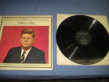 John Fitzgerald Kennedy A Memrial Album 2099  ALBUM G COVER VG Record LP