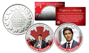 JUSTIN-TRUDEAU-Royal-Canadian-Mint-Medallions-2-Coin-Set-Canadian-Prime-Minster
