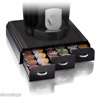 Anchor Pods Storage for Keurig K-cups Coffee Holder Organizer Cups Drawer Black