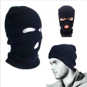 3 Hole Full Face Mask Ski Cap Balaclava Beanie Outdoor Winter Warm Head Cover