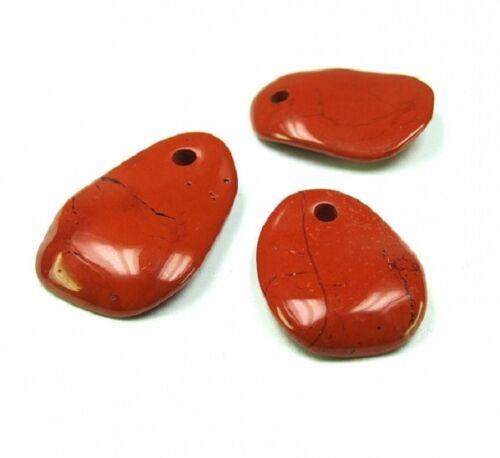Rojo jaspe remolque ondulados aprox 35-45 mm 4 mm agujero