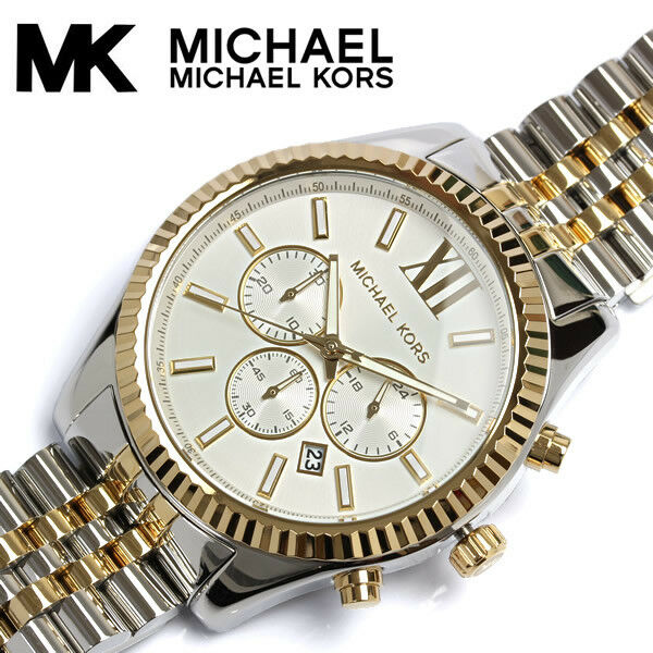 cb8c26cb05c6 Michael Kors Men s Lexington Chronograph Watch MK8344 for sale online