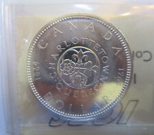 1964 CANADA $1 PL-65 CAMEO ICCS GRADED SILVER DOLLAR COIN - A