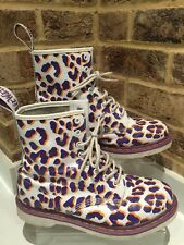 Men's Dr Martens Ankle Boots Uk Size 8 EU42 (leopard Purple Print )