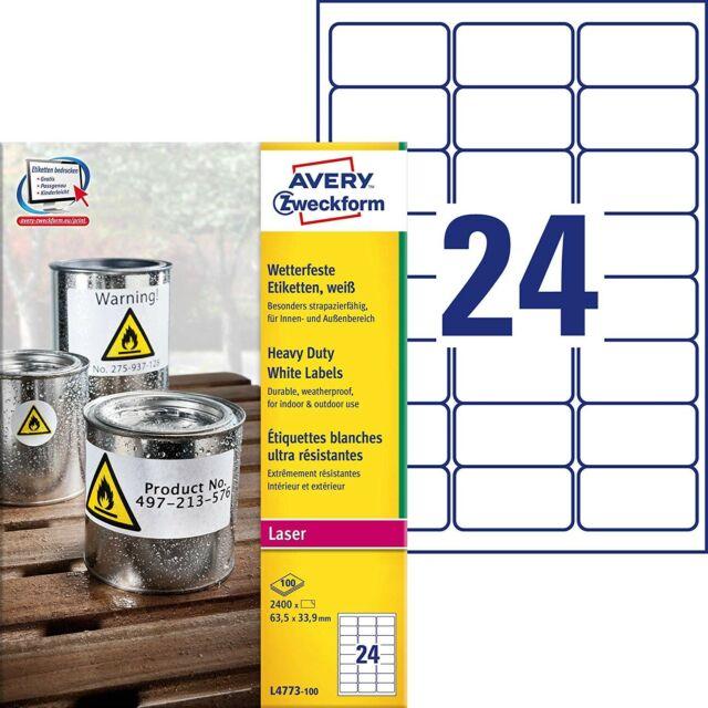 Polyester Etiketten 24x12mm silber 36 Stück