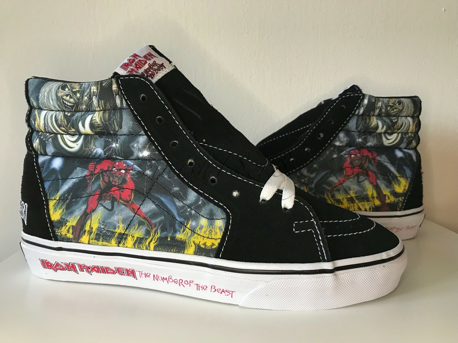 Neuf Vans X Iron Maiden  Number Of The Beast  sz. 7  RARE hard to find