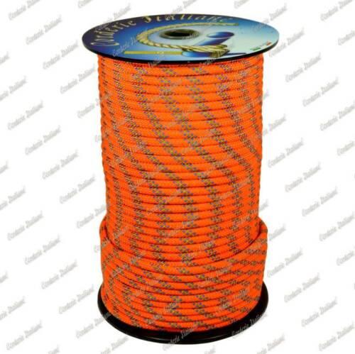Corderie Italiane 200 mt arancio Doppia treccia skipper scotta drizza 4 mm