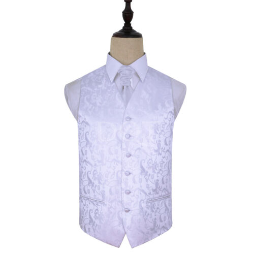 """Men/'s white passion mariage gilet-Taille 36 /"""" noeud papillon cravate 50/"""" choix cravat"""