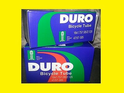 2- 26X1.75//1.95//2.125 BICYCLE INNER TUBE DURO AMERICAN VALVE TWO SCHRADER