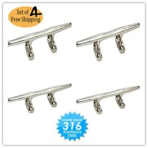 Marine//Boat//Yacht 2 Pack Stainless Steel Boat Dock Deck Line Rope Cleat 4/""