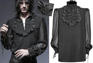 Chemise-haut-blouse-gothique-dandy-baroque-jabot-motifs-jacquard-grave-Punkrave