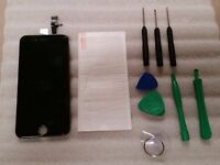 Iphone 6 Black Lcd Digitizer Screen 4.7 W/ Tools & Tempered Glass