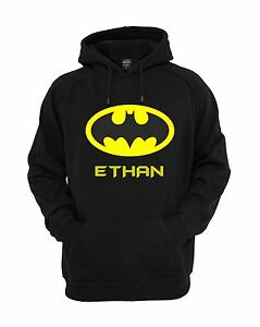 Funky-Personalised-Batman-Superhero-Kids-Hoodie-Jumper-Ages-3-12