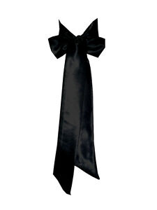bc9da5465f6f Image is loading BLACK-Satin-Wedding-Fancy-Dress-Party-Ribbon-Sash-