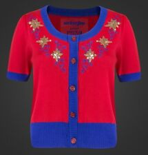 Marvel We Love Fine XL Cardigan Sweater: CAPTAIN MARVEL VINTAGE STAR Holiday