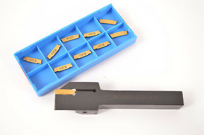 10* MGMN150-G MGEHR1212-1.5 Slot Cutter External Grooving Tool Turning Holder
