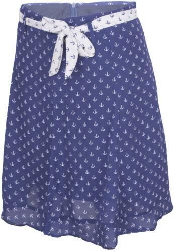 Küstenluder TAMMY Sailor ANCHOR Anker Chiffon Ruffle Retro Skirt ROCK Rockabilly