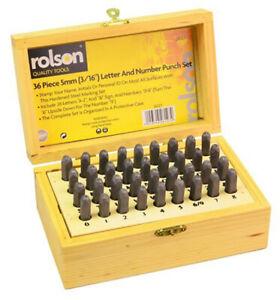 Strict Rolson 36pc Lettre & Numéro Stamp Set Punch 5 Mm X 3 Mm Trempé Trempé W Case-afficher Le Titre D'origine Luxuriant In Design
