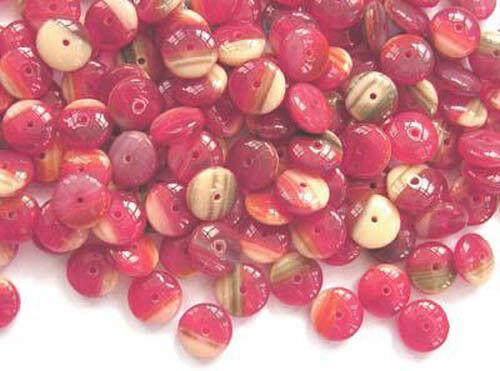 50 Rouge et couleurs mélangées VERRE CZECH GLASS Spacer beads 9 mm 9sp-rdm