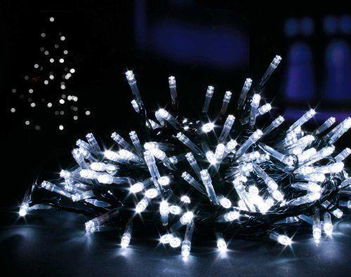300 LED 25m bianco brillante Filo Lucine Lucine Lucine Natale Albero Di Festa alimentazione UK 5dfd55