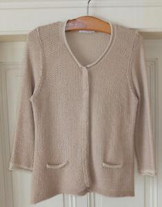 online store 6ed02 6c7a0 Details zu NICE CONNECTION Cardigan / Damen / beige rosa-glitzernd / Gr. 38  / NEUWERTIG