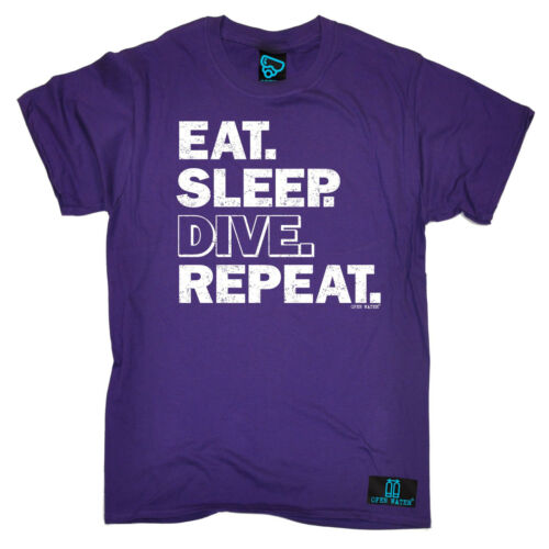 EAT Sleep Dive ripetere t-shirt immersioni subacquee INGRANAGGIO Divertente Regalo Di Compleanno