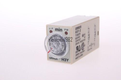 8pin base 1 set delay time timer relay H3Y-2 H3Y DC12V 5A 2.0min-60min 60min