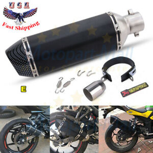 Universal 38-51mm Motorcycle Exhaust Muffler Pipe Removable Silencer