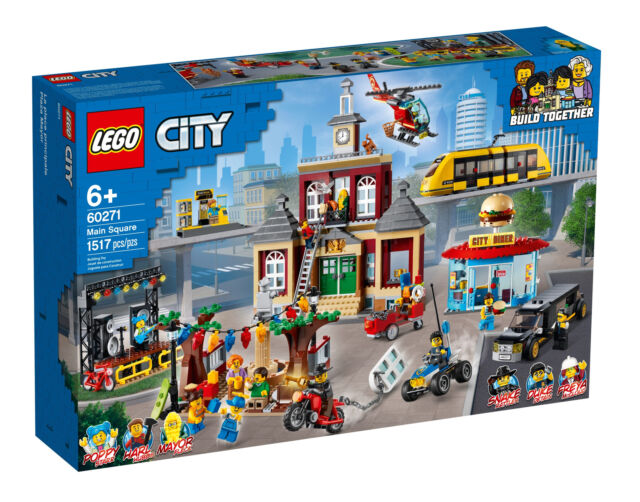 Minifigures Book New LEGO CITY 60271 Main Square House With Clock