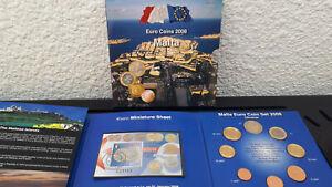 100% De Qualité Malte Malta First Official Euro Coins 2008-coffret Set € +2 Timbres Rare 30000 U Nous Avons Gagné Les éLoges Des Clients