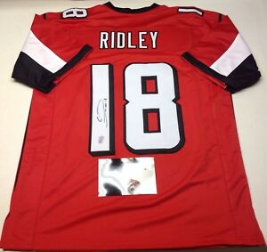 Image is loading ATLANTA-FALCONS-CALVIN-RIDLEY-SIGNED-CUSTOM-RED-JERSEY- a13cc60f1