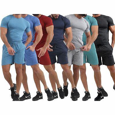 Mens T-shirt & Short Set Gym Wear Men's Nightwear Summer Pj's Pyjamas Loungewear StäRkung Von Sehnen Und Knochen