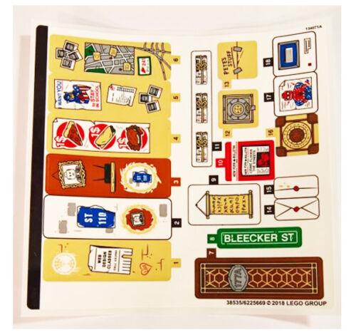 LEGO Super Heroes 76108 Sanctum Sanctorum Showdown STICKER SHEET 2