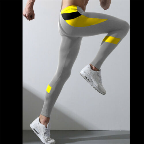 Mens Legging GYM Workout Compression Running Sports Long Pant GYM Tight trousers