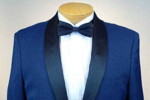46R STEVE HARVEY BLUE TUXEDO with Vest 46 Regular Mens Tuxedo M05v