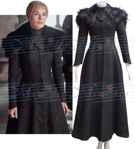 Game of Thrones Season 7 Queen Costume Cersei Lannister Cosplay Dress Coat