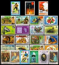 DOMINICA-25 Different-Mint Thematic Large Postage Genuine Stamps
