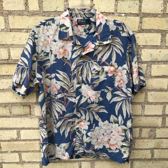 Ralph Lauren Polo Mens Slim Fit Button Down Floral Short Sleeve Shirt Flowers Ne