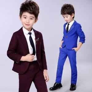 Boys Blazer Youth Suit Coat 2 button Dark Navy Blue High Quality Unbranded