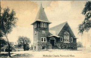 1909-NORWOOD-MASS-METHODIST-CHURCH-POSTCARD-KK2