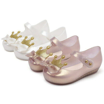 finest selection outlet store casual shoes Crown Bow kids Girls Mini Melissa Shoes Sandals Toddler US Size 6-11 EUR  21-29 | eBay