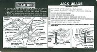 1974 75 76 77 Chevy Truck/gmc Truck Jack Instruction Decal