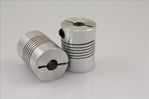 8x10mm Clamp Shaft Coupling 8 to 10mm Motor Coupler