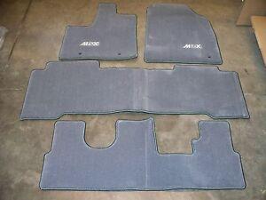 Genuine OEM Acura MDX Moon Lake Gray Carpet Floor Mats EBay - 2006 acura tl floor mats