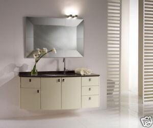 Mobile bagno Giada bianco platino opaco 2 ante lavabo | eBay