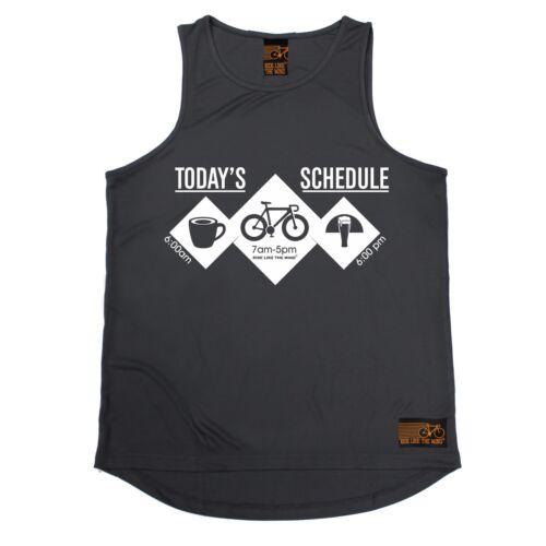 MENS Todays Shedule Bike Breathable tshirt Clothing T SHIRT TRAINING VEST