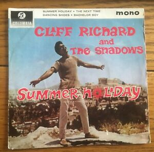 Cliff-Richard-and-the-Shadows-Summer-Holiday-UK-1963-7-034-E-P-Columbia-Records